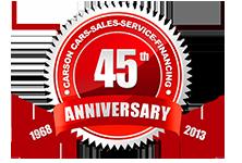Carson Cars 45th Anniversary