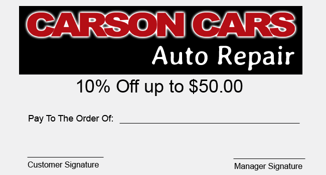 10 on repair Coupon
